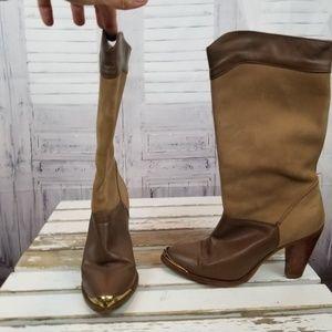 Dingo heel boots cowboy Western women 6m 6 brown t